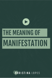 Meaning of manifestation